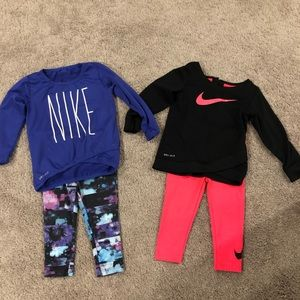 18m Girls Nike Dry-Fit outfits